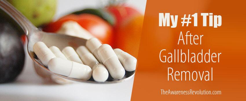 gallbladder removal tip w/ bile salts and lipase