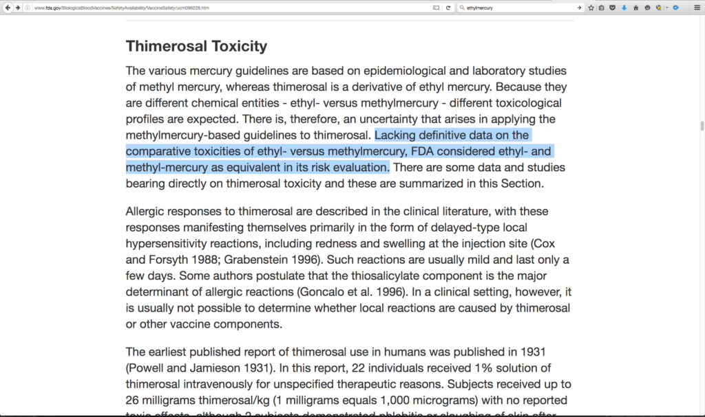 FDA Lacks Mercury Safety Data For Vaccines screenshot image