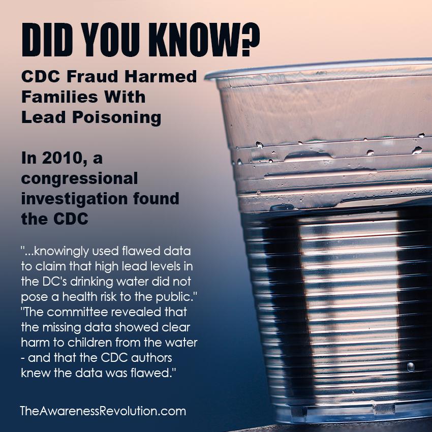 CDC Fraud Lead Poisoning